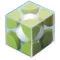 體心結晶構造模型(綠、白)