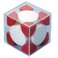 面心晶體結構模型(紅、白)