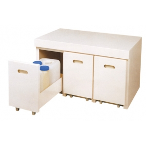 PVC一般型外拉式廢液暫存櫃