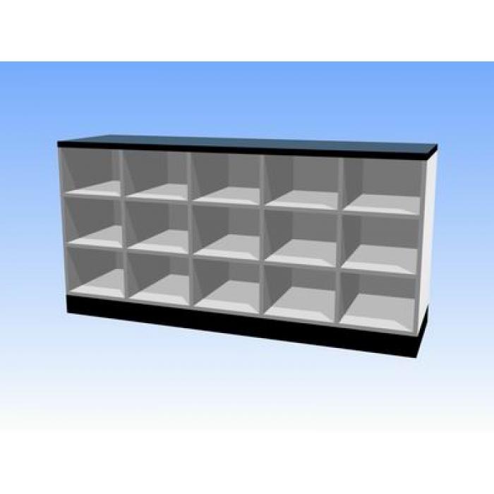 多格无门储物矮柜(铝合金结构)