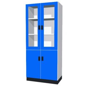 器材櫃(上玻下木門)