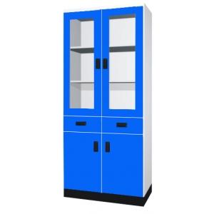 器材櫃(上玻二抽下木門)
