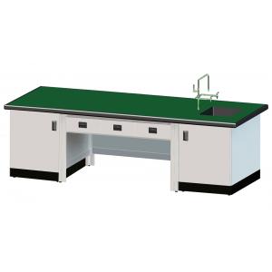 教師用耐酸鹼單水槽實驗桌(鋁合金結構)