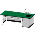 教師用耐酸鹼單水槽實驗桌(鋼製結構)