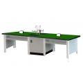 雙水槽學生耐酸鹼實驗桌(鋁合金結構)