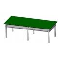 實用型學生耐酸鹼實驗桌(鋼製結構)