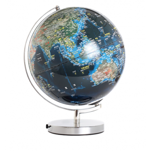 12吋地形海溝人口分佈地球儀