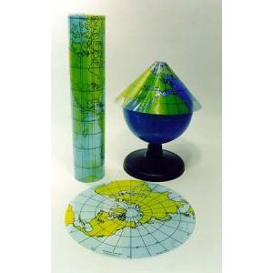 地球地圖投影模型