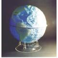 海陸分佈立體地球模型