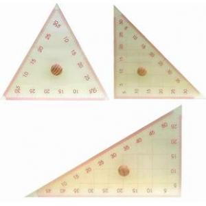 透明大型三角定規(3支一組)