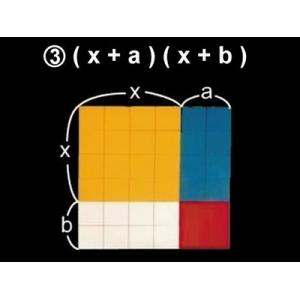 (x+a)(x+b)面積因數分解說明教具
