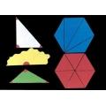 多邊形內角和中心角說明教具