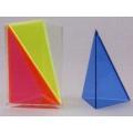 彩色三角稜柱體模型 A