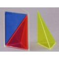 彩色三角稜柱體模型 B