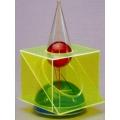 彩色圓錐體模型 C
