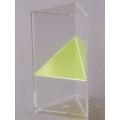 透明三角稜柱體模型 A