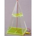 透明四面角錐體模型 C