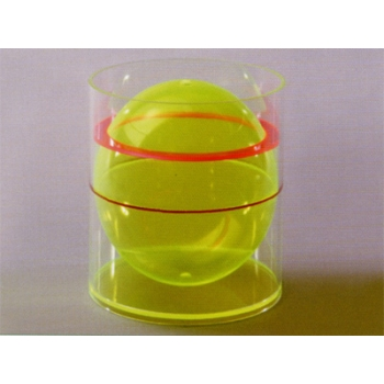 圆柱体含球体模型