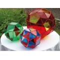 彩色阿基米德立體模型組