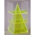 透明四角稜柱體模型 C