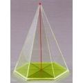 透明六面角錐體模型 C