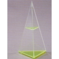 Transparent triangular cone model B