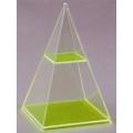 透明正方形角錐體模型 C