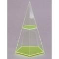 透明五面角錐體模型 B