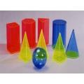 透明彩色幾何模型九件組