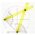 圓內兩相交弦之交角模型