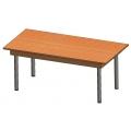 長方型閱覽桌(鋼製腳架)